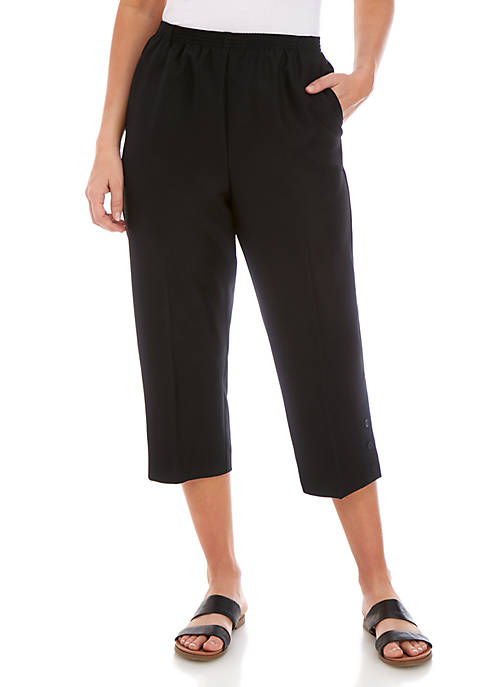 Alfred Dunner Classics Pull On Capris
