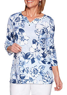 Alfred Dunner Classics Floral Printed Tunic