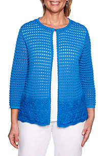 Alfred Dunner Classic Shell 2Fer Sweater