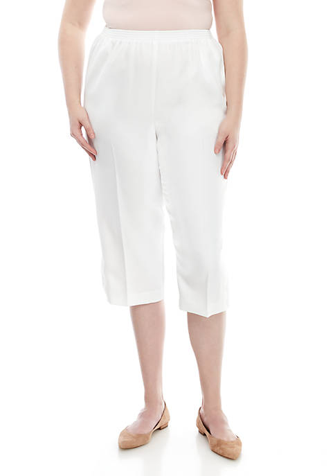 Alfred Dunner Plus Size Classics Capris