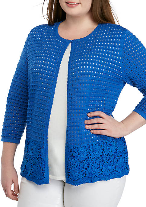 Alfred Dunner Plus Size Woven 2Fer with Shell