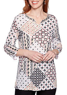 Alfred Dunner Petite Classics Knit Tunic