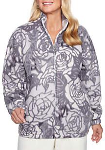 Classics Floral Polar Fleece Sweater