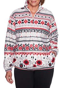 Alfred Dunner Classics Biadere Polar Fleece Sweater