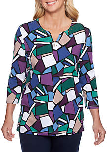 Classic Stained Glass Knit Top