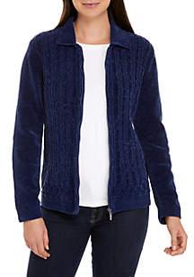 Zip Chenille Sweater