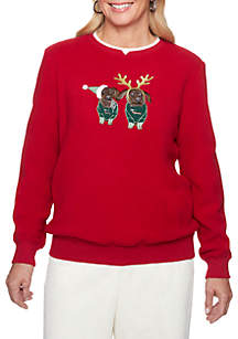 Classic Holiday Puppies Sweater