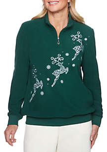 Classic Holiday Reindeer Sweater