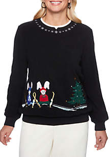 Classics Holiday Bunnies Sweater