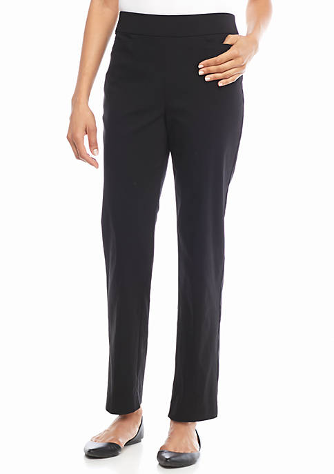 Alfred Dunner Allure Stretch Pull On Average Pants