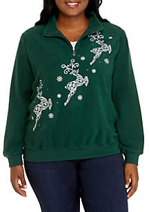Plus Size Reindeer Sweater