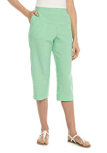 Check It Out Gingham Capri
