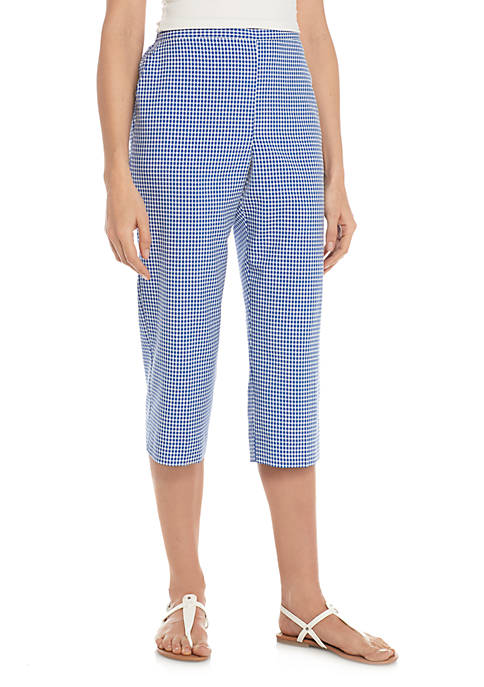 Alfred Dunner Check It Out Gingham Capri