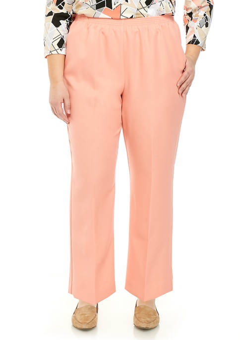 Alfred Dunner Plus Size Polyester Pull On Pants