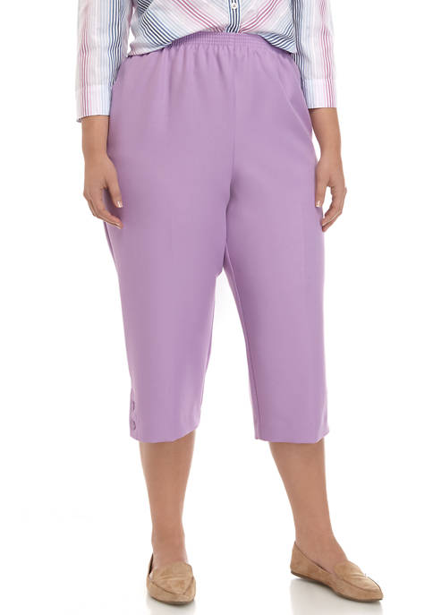 Alfred Dunner Plus Size Classics Collection Pull-On Capri