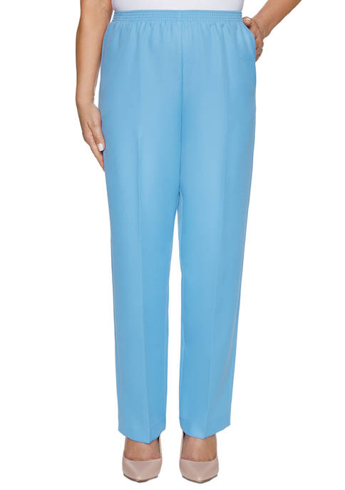 Alfred Dunner Petite Classic Average Pants