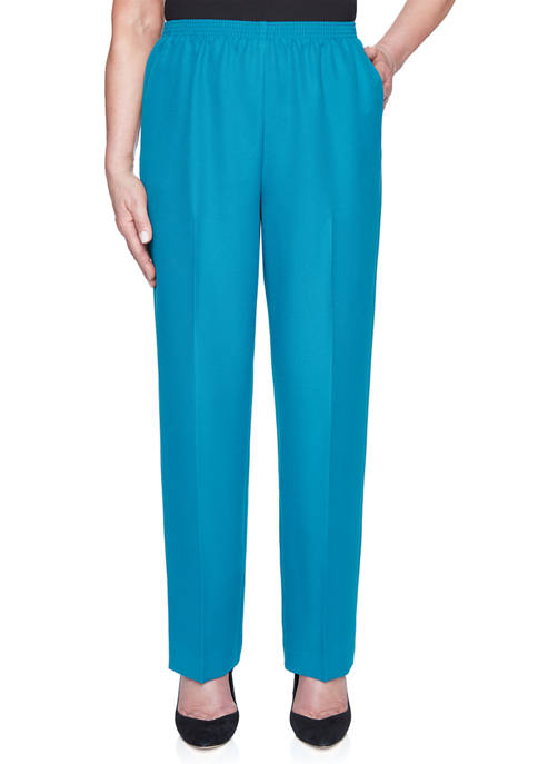 Alfred Dunner Womens Classics Proportioned Pants- Medium Length