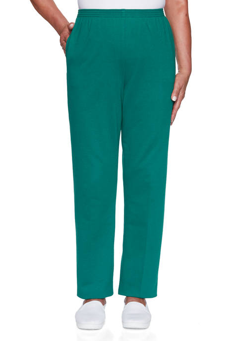Alfred Dunner Womens Classics French Terry Medium Pants