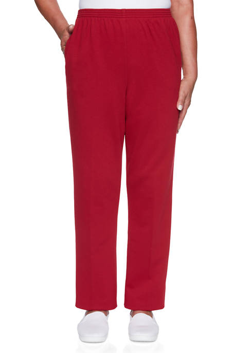 Alfred Dunner Plus Size Classics French Terry Pants-