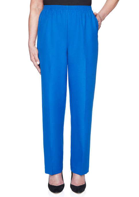 Alfred Dunner Petite Classic Proportioned Pants- Average