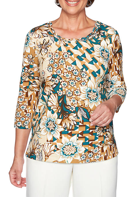 Alfred Dunner Classic Floral T-Shirt