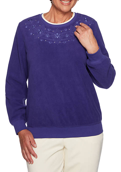 Alfred Dunner Classics Embroidered Sweater