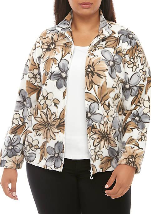 Alfred Dunner Plus Size Floral Jacket