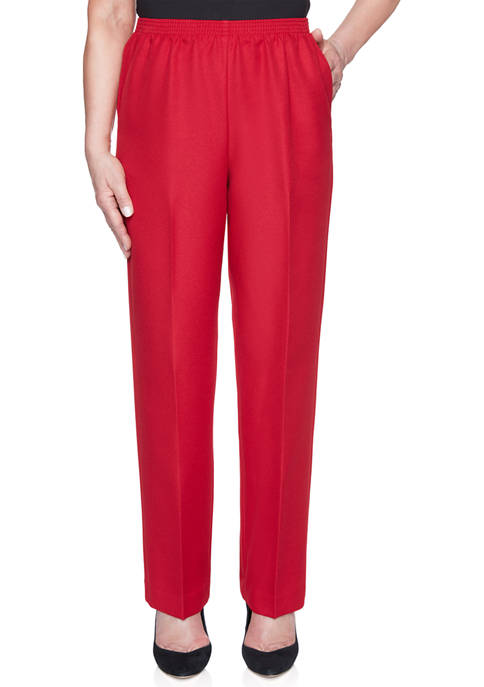 Alfred Dunner Womens Classics Proportioned Medium Pants