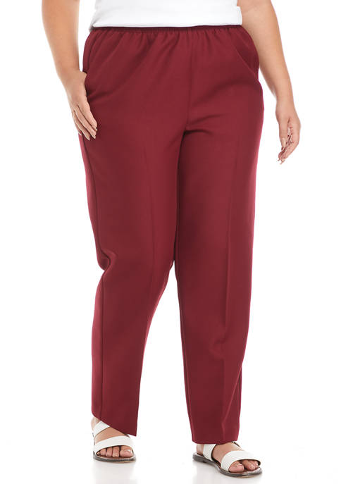 Alfred Dunner Plus Size Classics Proportioned Medium Pants