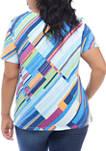 Plus Size Classics Diagonal Textured Knit Top