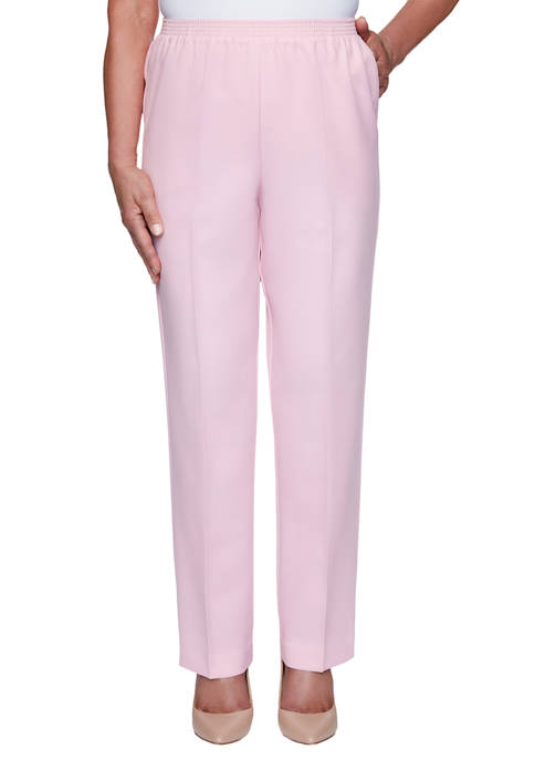Alfred Dunner Womens Classics Polyester Pants- Short