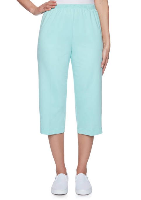 Alfred Dunner Womens Classics French Terry Capris