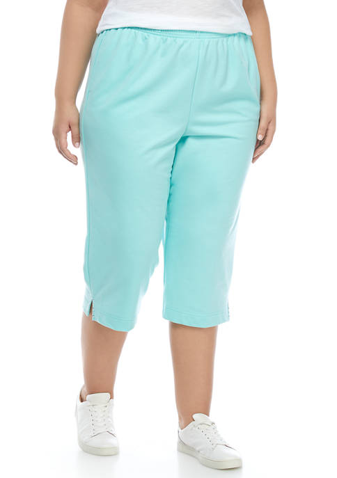 Alfred Dunner Plus Size French Terry Capris