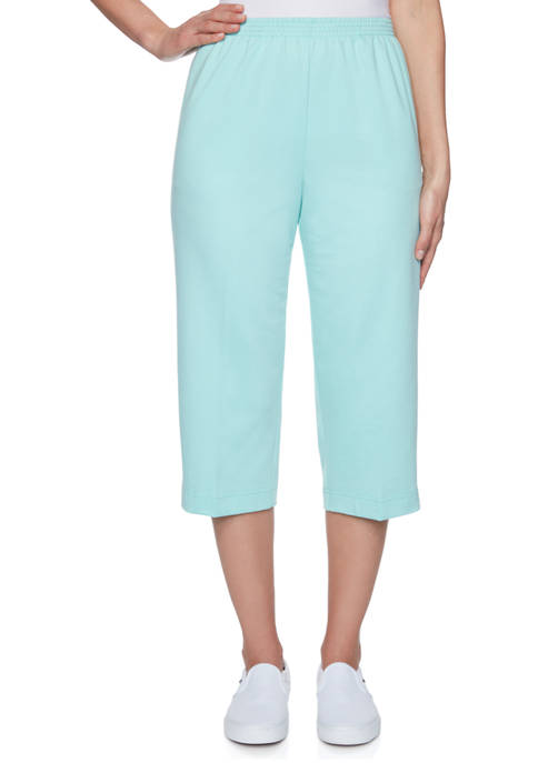 Alfred Dunner Petite Classics French Terry Capris