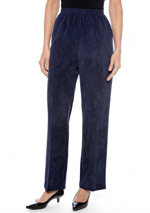 Alfred Dunner Petite Classic Corduroy Pant