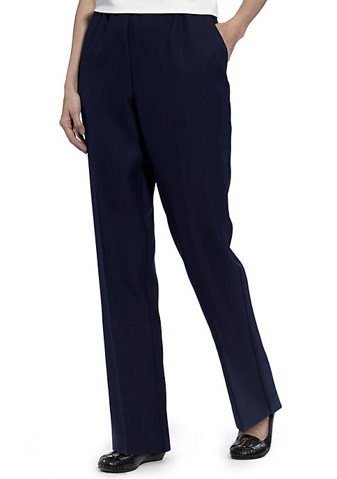 Alfred Dunner Plus Size Classic Pull On Pants