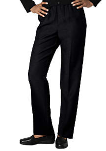 Petite Solid Pull-On Pant