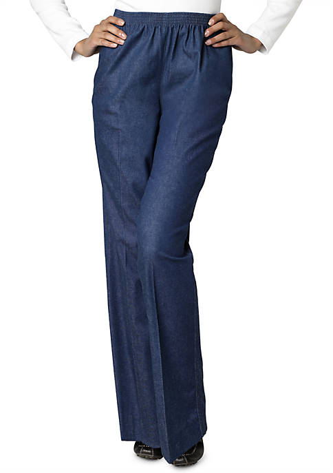 Alfred Dunner Classic Pull-on Denim Pant