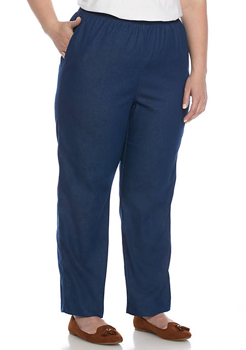 Alfred Dunner Plus Size Classic Proportioned Medium Pant