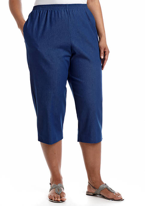 Alfred Dunner Plus Size Classics Jean Capris