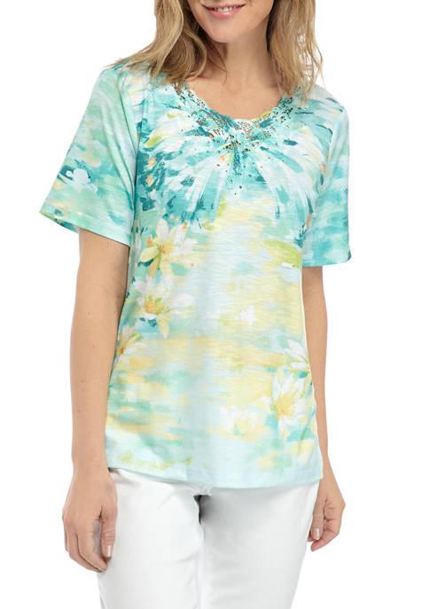 Womens Brushstroke Butterfly T-Shirt