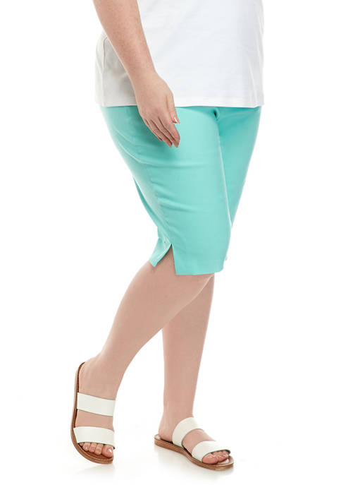 Alfred Dunner Plus Size Spring Lake Shorts