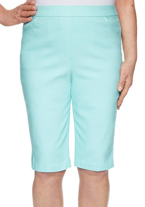 Alfred Dunner Petite Spring Lake Bermuda Shorts