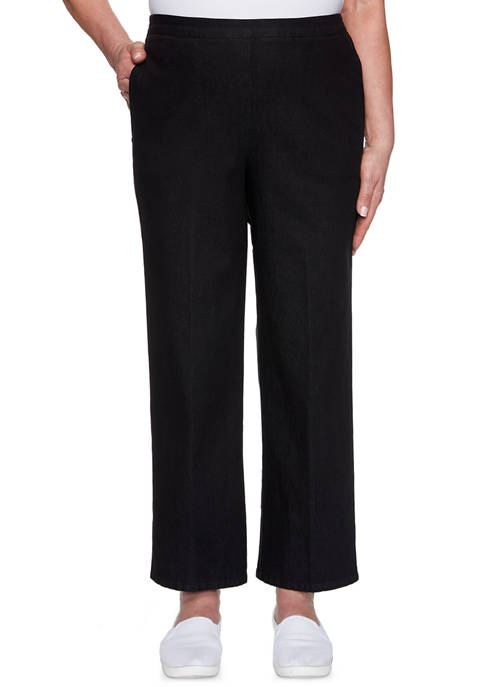 Alfred Dunner Womens Checkmate Proportioned Short Pants