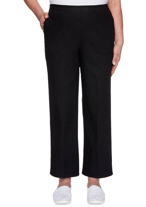 Alfred Dunner Womens Checkmate Proportioned Medium Pants