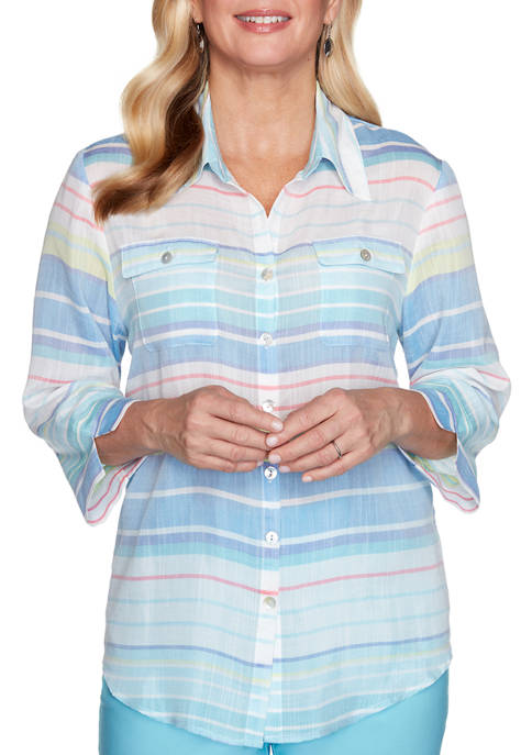 Womens See You There Stripe Shirt