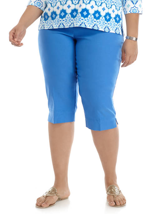 Alfred Dunner Plus Size Sea You There Capris
