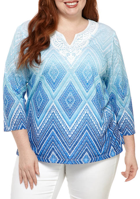 Alfred Dunner Plus Size Sea You There 2020