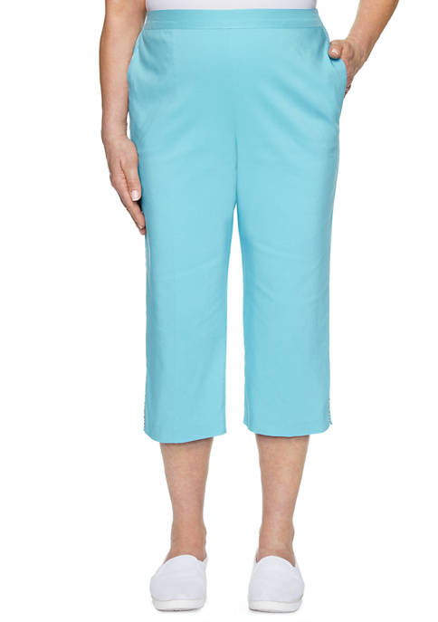 Alfred Dunner Petite Sea You There Capris