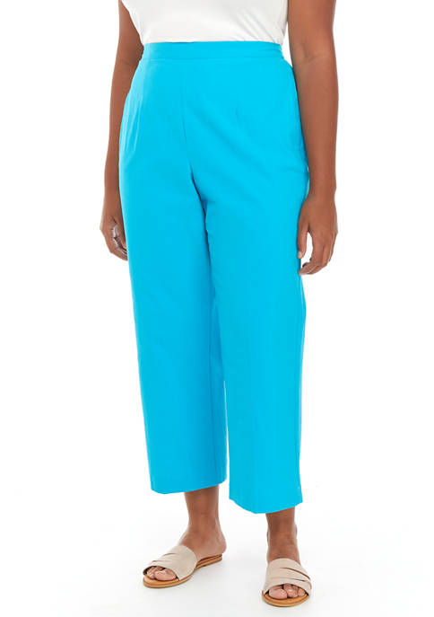 Alfred Dunner Plus Size Turquoise Skies Proportioned Pants-